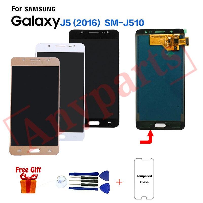 Display TFT Para Samsung J5 2016 SM-J510FN J510F módulo Da Tela lcd para Samsung SM-J510MN J510GN J510L substituição Da Tela de Exibição