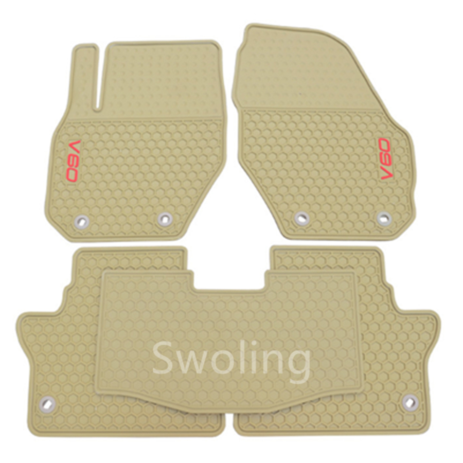 For Volvo V60 High Quality Waterproof Anti Skip Latex Durable Carpets Special Rubber Car Floor Mats