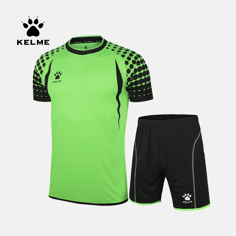 KELME Football Soccer Jerseys Men Custom Football Jerseys Short Sleeve Goalkeeper Uniforms Football Set Suit K15Z012