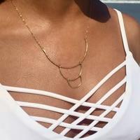 Long Necklace Handmade 14 Gold Filled Custom Choker Boho Pendants Best Friends Collier Femme Kolye Collares Womens Jewelry