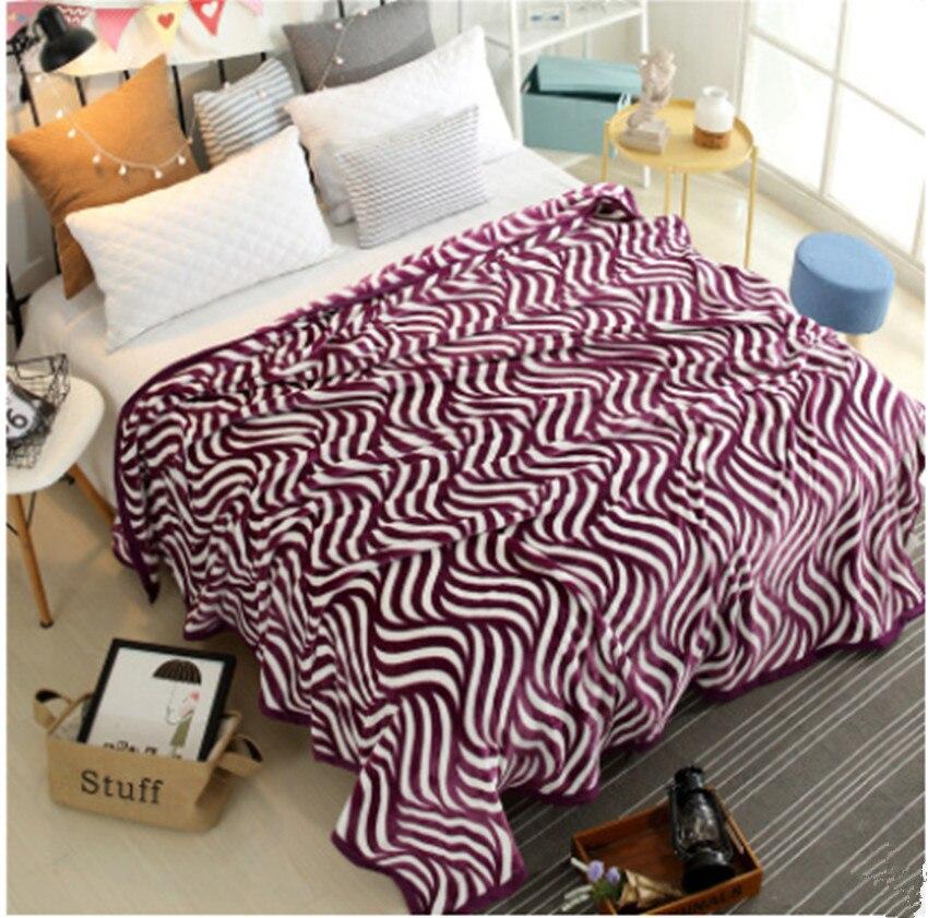 Soft summer blankets plaid printing red Flannel fleece blanket chair ...