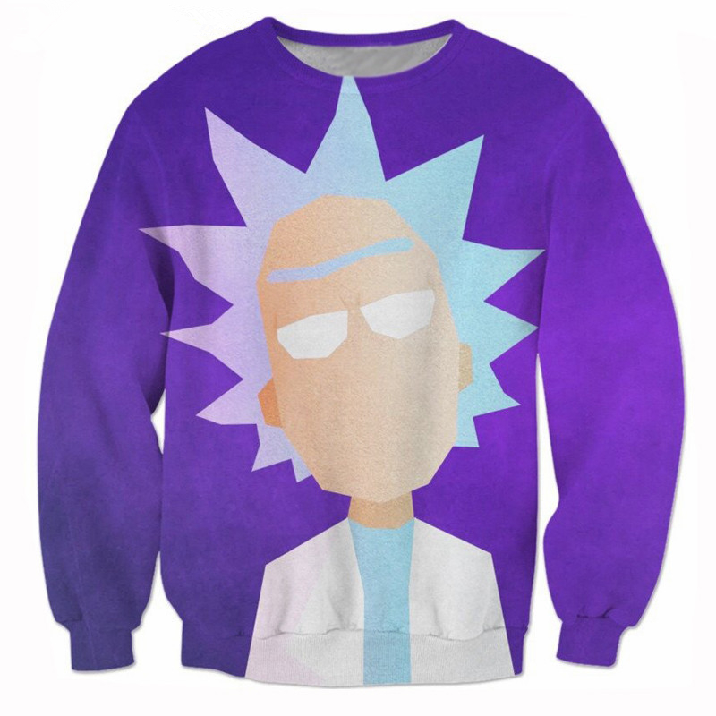New Funny Cartoon Morty printing 3d Sweatshirt Rick and Morty Sweats Women Men Hoodies jumper Sweatshirt Harajuku pullovers tops