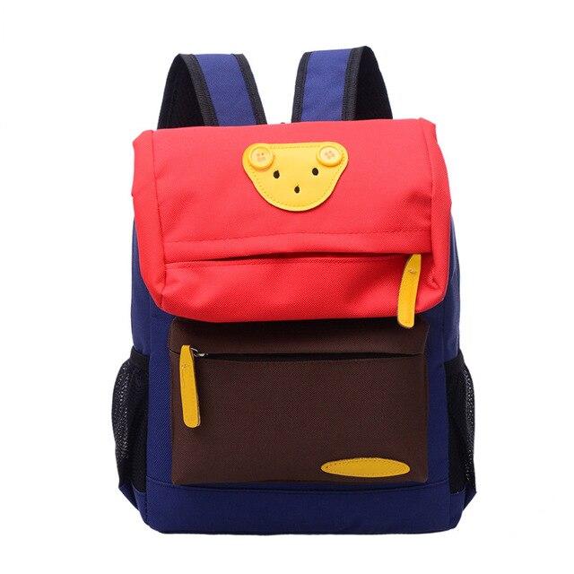 68f21cfcd7 Kid   Baby s bag Kindergarten backpack Colorblock bear boys girls School  Bag Backpack Cute Baby Toddler travel backpack 2 sizes