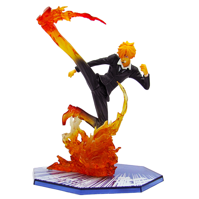 Anime <font><b>One</b></font> <font><b>Piece</b></font> <font><b>Sanji</b></font> Action Figure 1/8 scale painted figure Diable Jambe <font><b>Sanji</b></font> Doll PVC figure Toys Brinquedos With Box image