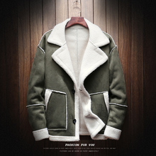 купить Winter Jacket Men Wool Thick Warm Coat Fashion Casual Large Size S-5XL Male Cotton Clothes Streetwear Pilot Bomber Outwear Man дешево