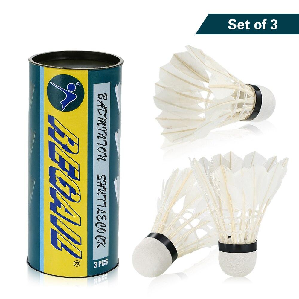 3Pcs Durable Colorful Feather Shuttlecocks Birdies Badminton Ball Game