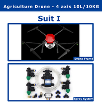 EFT E410 4 axis 1300mm Wheelbase waterproof agricultural spraying drone flight platform 10L/10KG Folding Spray Quadcopter