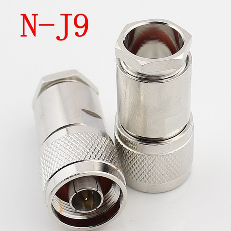 5pcs-50pcs RF Connector Plug NJ-9 (N-J9) N-type Male 50-9 Attached Antenna Connector Adapter Sets image