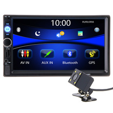 2 din 7 inch HD Car Radio GPS Navigation Player Camera Autoradio Bluetooth AUX MP3 MP5 Stereo FM Audio USB Auto Electronic 7010G