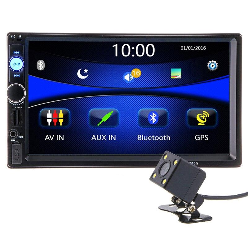 2 din 7 pollice HD Macchina Fotografica del Giocatore Autoradio di Navigazione GPS Autoradio Bluetooth AUX MP3 MP5 FM Stereo Audio USB Auto Elettronico 7010G