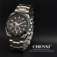 2016 New Chenxi Luxury Brand Military Watch Men Full Steel Wristwatches Fashion Waterproof Relogio Masculino Gift
