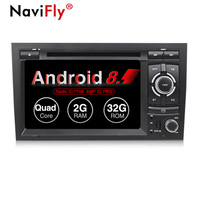 New! Android 8.1 Car radio dvd multimedia player for Audi A4 B6 B7 S4 B7 B6 RS4 2002 2008 A4 S4 audio GPS Navigation WIFI BT RDS