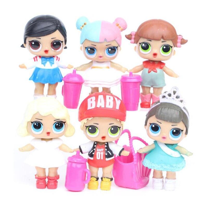 Toy Model Unpacking High-Quality Dolls Baby Tear Open Color Change Egg Dolls Toy Figures Kids Gift Toys For Children LOL Dolls стоимость