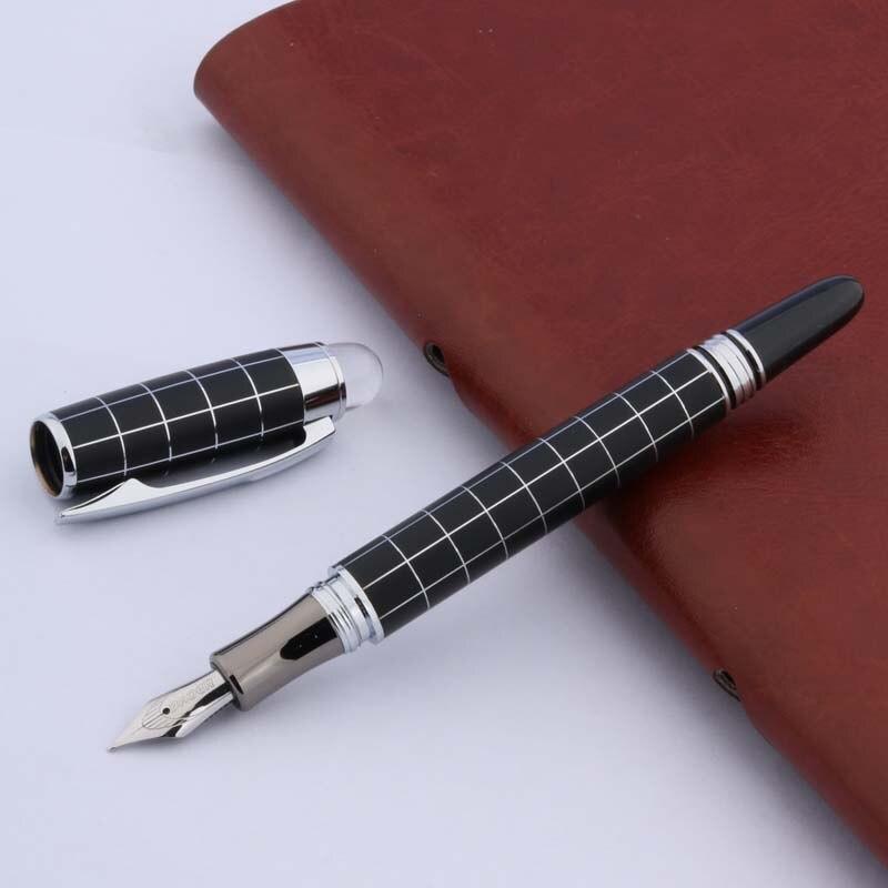 BAOER 79 Metal SILVER Piece Trim M Wave GIFT Fountain Pen
