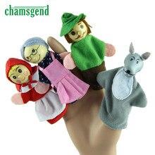 Высокое качество 4 шт. Красная Шапочка пальчиковые куклы рождественские подарки Детский развивающий игрушки Aug3