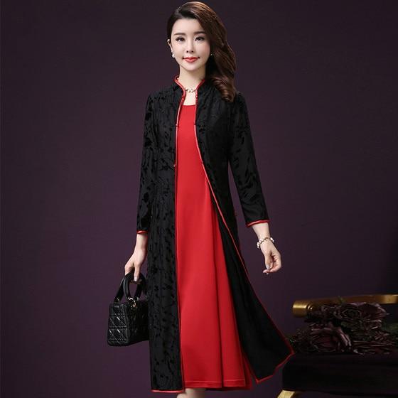 Women's Autumn Winter Dresses 2017 Spring Autumn New Slim Fashionable Ladies Set Dress Plus Size Women's Clothing