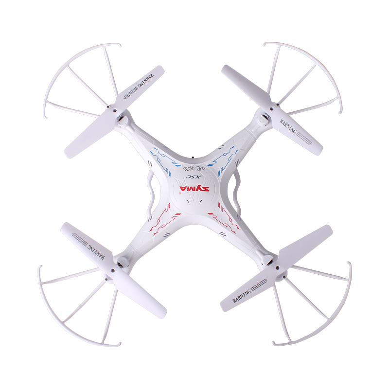 Drone RC SYMA X5C avec caméra 2MP 2.4G 4CH hélicoptère RC quadrirotor 6 axes pour enfants