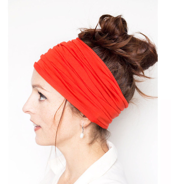 Solid Wide Patchwork Yoga Sports Headband For Women Fashion Causal Wicking  Elastic Turban Hairband Headwraps Hair 0a43e815612