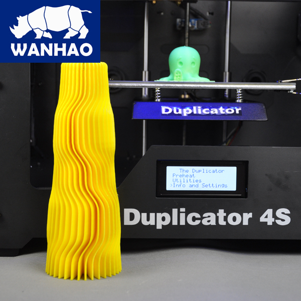 Wholesale WANHAO 3D printe D4S Multi Shape Samples Making dual extruder printing machine print with ABS