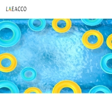 Laeacco Swimming Ring Pool Summer Child Portrait Scene Backdrop Photography Background Photographic Backdrops For Photo Studio