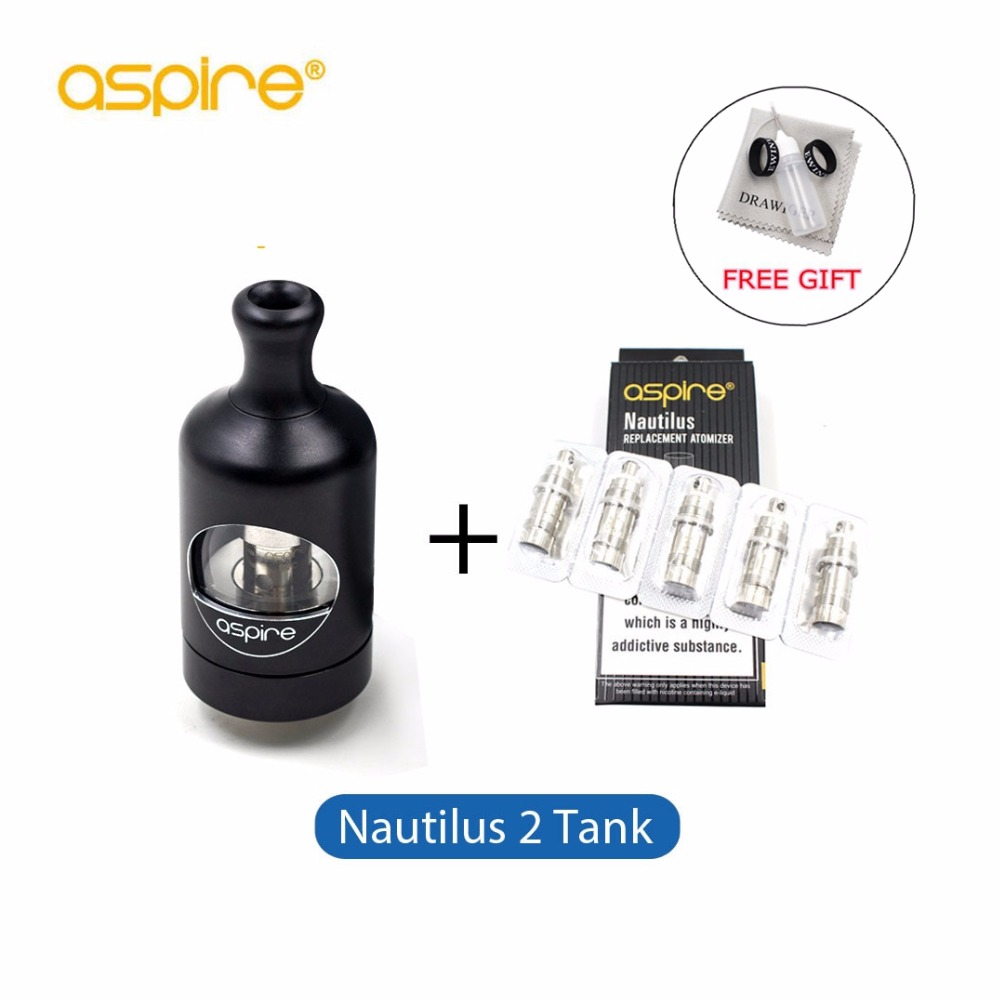 Aspire Nautilus 2 Tank Atomizer with 5pcs Nautilus 2 BVC Coil 0.7ohm 2ML Vape Atomizer for E cigarettes Zelos 50w Box Mod e cigarettes aspire bdc coil 1 6 1 8 2 1ohms replacement bottom dual coil head for aspire vaporizer 5pcs lot