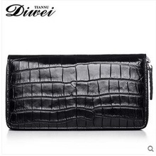 diwei 2017 new hot free shipping no stitching belly crocodile man purse long men bag leisure high-capacity wallet male clutches