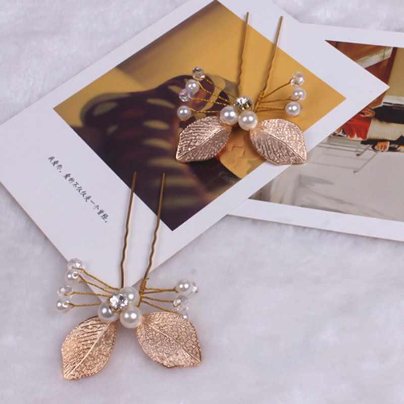 אופנה פנינת פרח ברור קריסטל ריינסטון שיער סיכות קליפים שושבינה חתונה כלה בארה 'ב תכשיטי שיער Accessorie