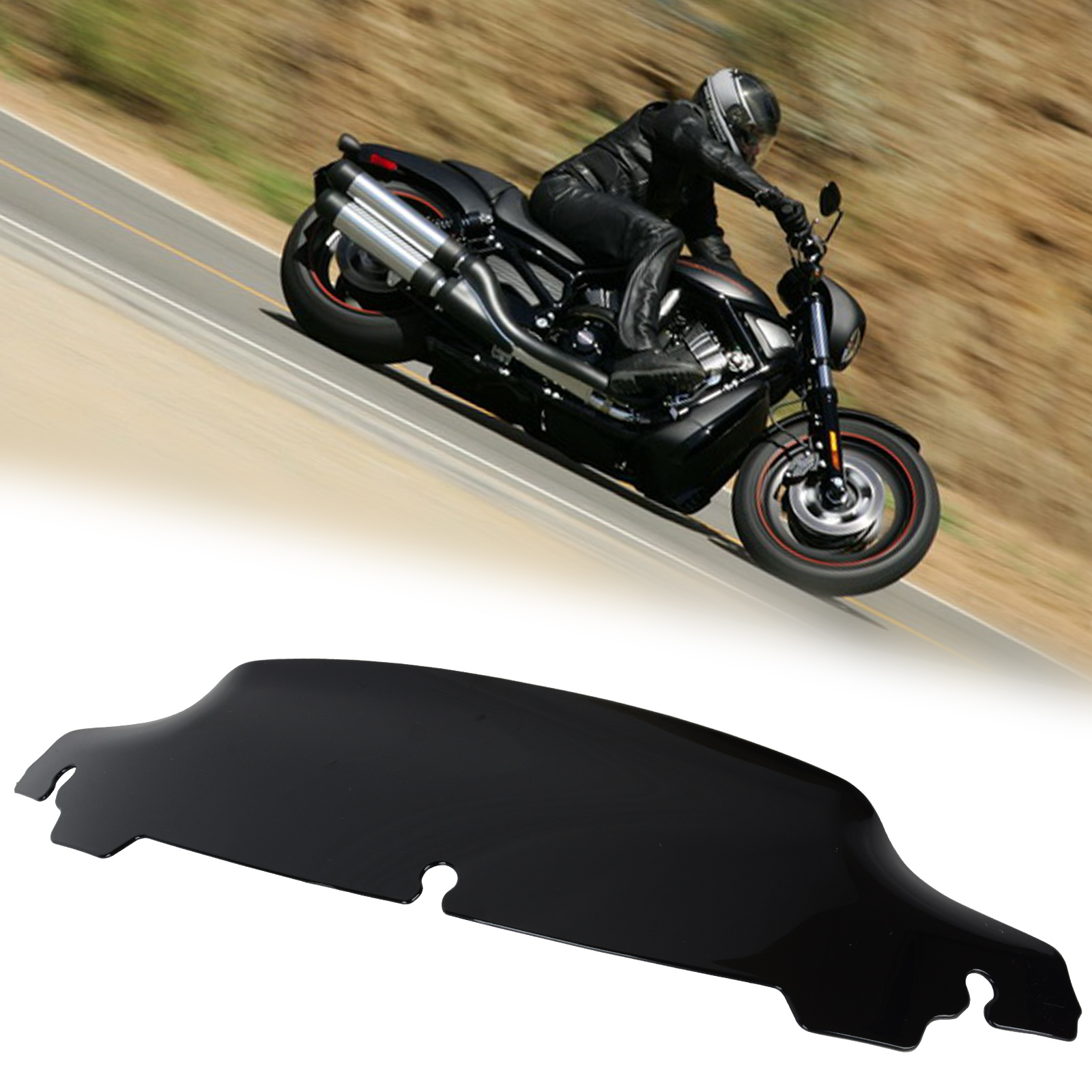 High Quality ABS Plastic Black 4 Wave Windshield Windscreen for 14-UP Harley Electra Street Glide Touring Motorcycle Accessory