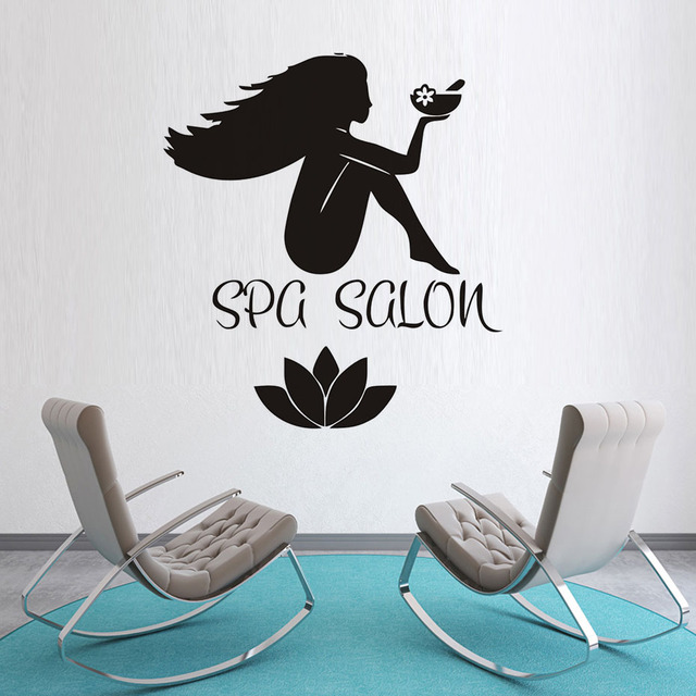 Removable Fashion Home Decor Vinyl Wall Art Decals Sticker Spa Salon Stickers Women Body
