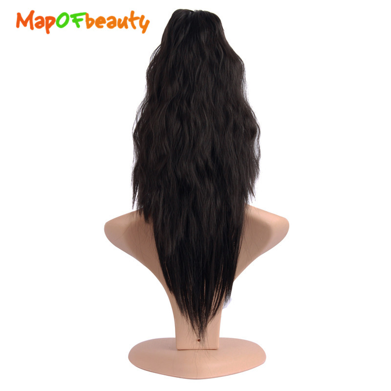 Synthetic Ponytails Mapofbeauty 16 20 Long Straight Claw Ponytail Black Orange Clip In Hair Extensions Heat Resistant Synthetic Women Hairpiece Synthetic Extensions