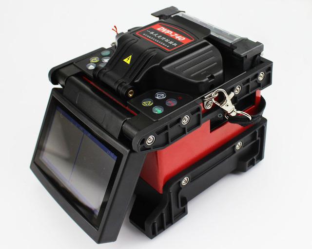 Fusionadora de Fibra Óptica de fibra Óptica de La Máquina Que Empalma Fusionadora multilenguaje DVP740 Fuison máquina de empalme