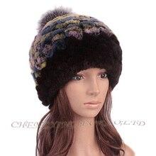 Бесплатная доставка CX-C-218C высокое качество трикотажные оптовая продажа rex-кролика женщины шляпа