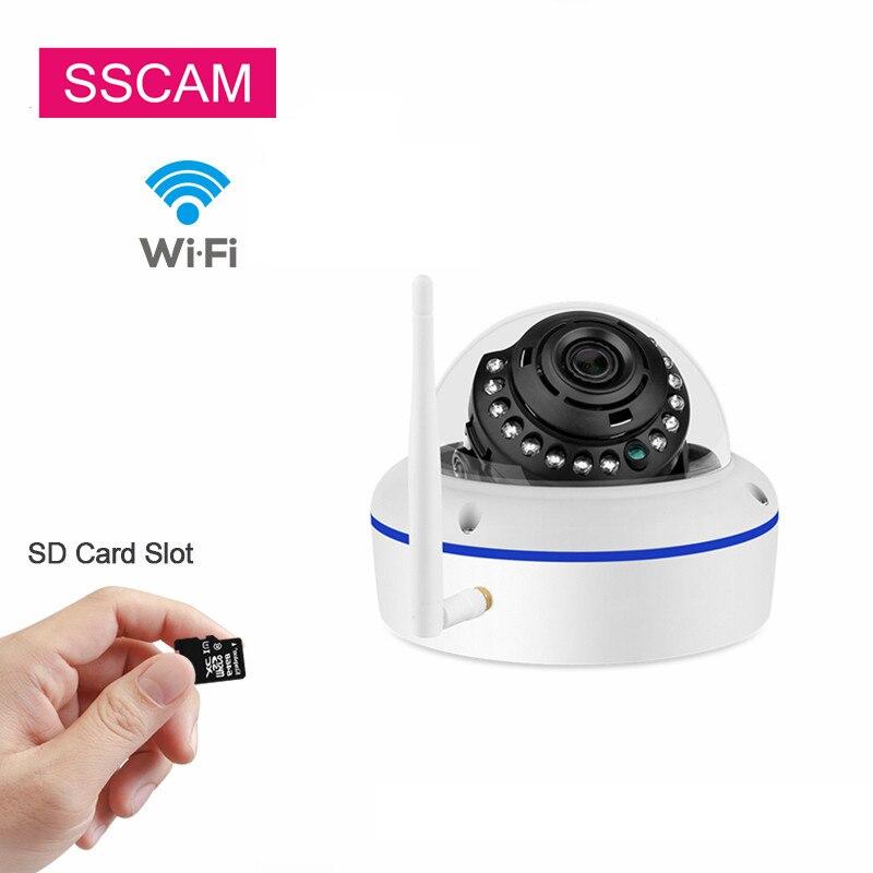 2 0MP 1080P Night Vision Wireless WiFi Pan Tilt P2P XMeye IP Camera IR-CUT  Network P/T SD Card Video Indoor CCTV Webcam Camera