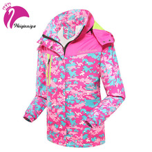 Spring 2016 Children Girl Outerwear Jacket Double-Deck Waterproof Windproof Hooded Coats For Girl 6-15Y Kids Sport Clothes