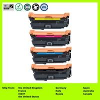 LCL 507A CE400A CE401A CE402A CE403A  (4-Pack ) Laser Toner Cartridge Compatible for HP Laserjet Enterprise 500 color M551 N DN