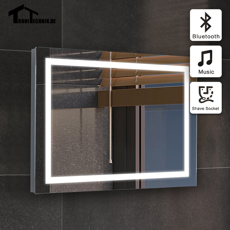 50x70cm Frame Bluetooth Bathroom MIRROR Wall Mirrors For Illuminated Mirror LED GLASS IP44 E104B5070