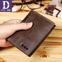 DIDE 2018 Purse Men S Genuine Leather Wallet Casual Purse Standard Wallets Zipper Coin Purse Design