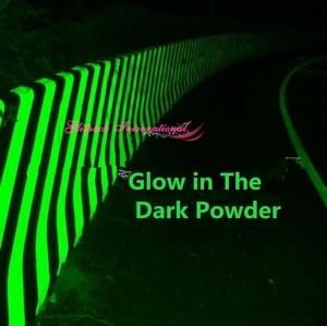Top 1kg Wholesale Airport Road Glow in dark Nail art pigment Green Light Color long last glowing luminescent powder in Bulk