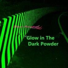 Top 1kg Großhandel Flughafen Straße im Dunkeln leuchten Nail Art Pigment Grünes Licht Farbe lang zuletzt leuchtenden lumineszierenden Pulver in Groß