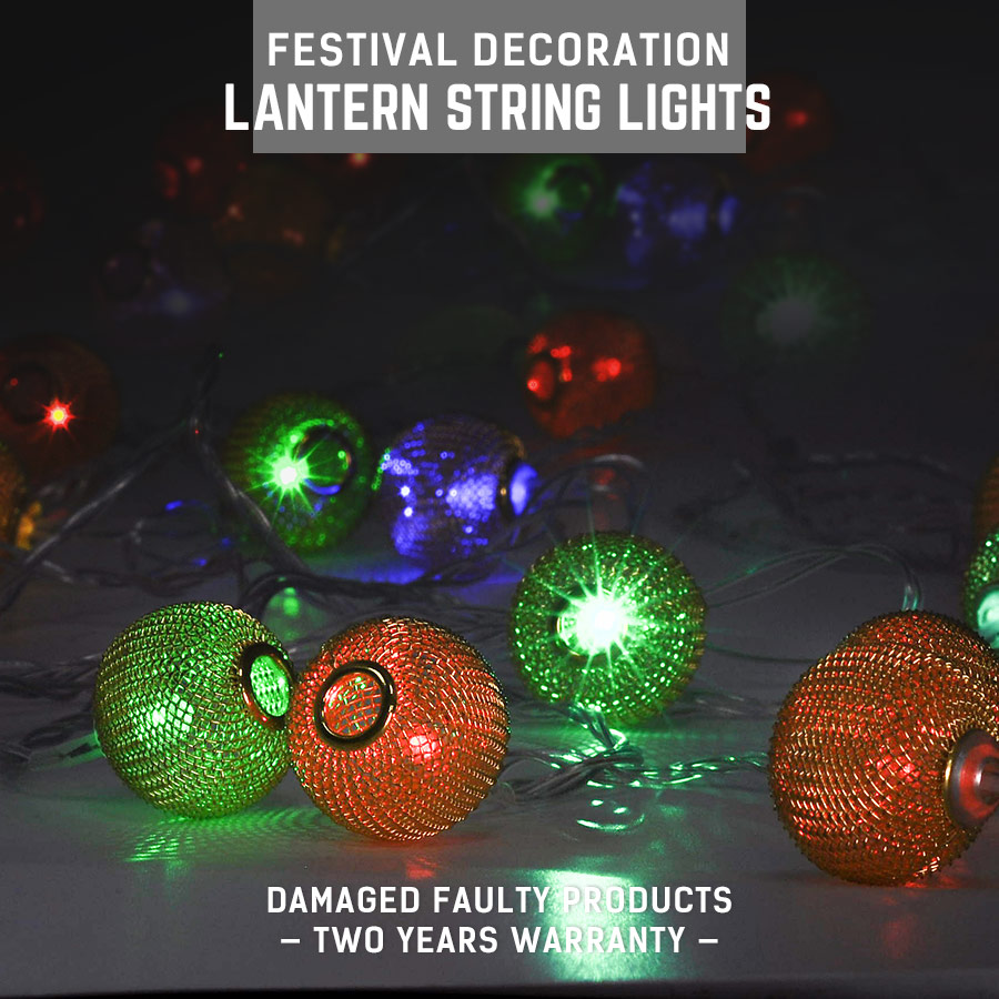 half off fa42f 5a43e US $23.98 80% OFF|LED String Lights Golden Lantern Shape Fairy Waterproof  Decoration Lamp String AC220V 5 10W 5M RGB String Lights Fairy Lightings-in  ...