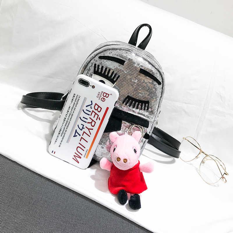Для женщин Блестки рюкзак школьные сумки для девочек-подростков небольшие рюкзаки женские дизайнерские путешествия рюкзак