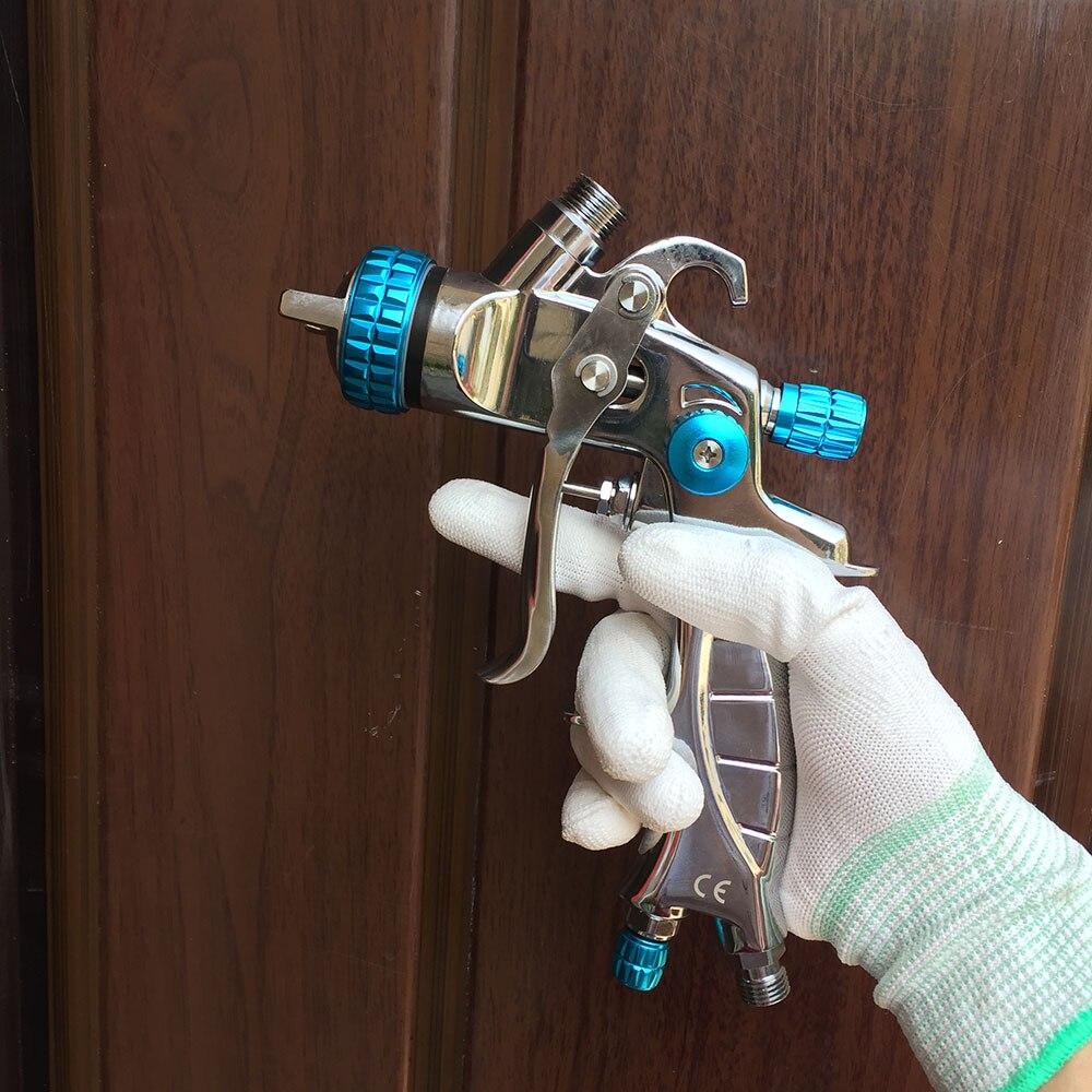 SAT1215 Spary Gun Air Pressure Auto Paint Gun Gravity Feed Type Pneumatic Topcoat Gun Air Tool Car Painting Atomizer Airbrush