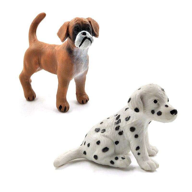 Cute Simulation hound dalmatian pug dog miniature figurine animal Model home decor fairy garden Ornament decoration accessories in Figurines Miniatures from Home Garden