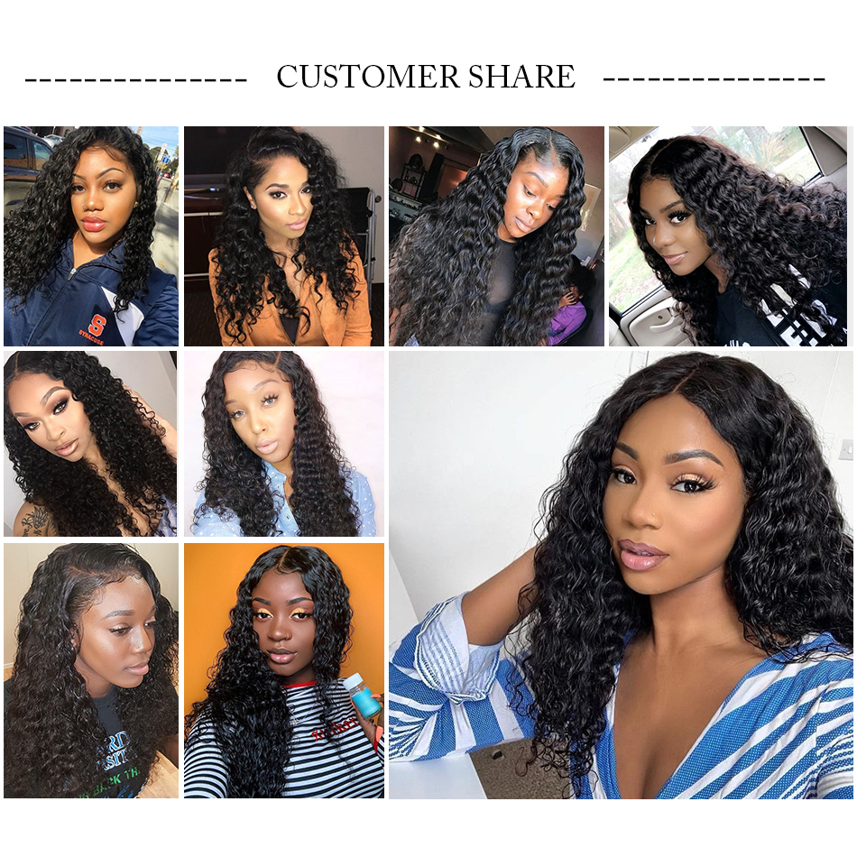 HTB1QA0tRpzqK1RjSZFvq6AB7VXaD 8-28 30 Inch Deep Wave Bundles With Closure Brazilian Remy Curly 100% Human Hair Water Wave 3 4 Bundles Weave And Lace Closure