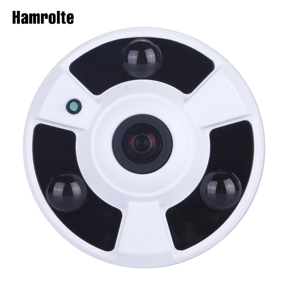 Hamrolte CCTV Camera 1080P Sony IMX323 Senor Ultralow Illumination 1.7MM Fisheye 180Degree Wide Angle Panoramic AHD Camera