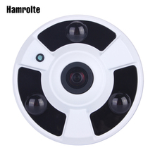 Hamrolte كاميرا تلفزيونات الدوائر المغلقة 1080 وعاء سوني IMX323 سينور فائقة الانخفاض الإضاءة 1.7 ملليمتر فيش 180 درجة واسعة زاوية بانورامية كاميرا ahd