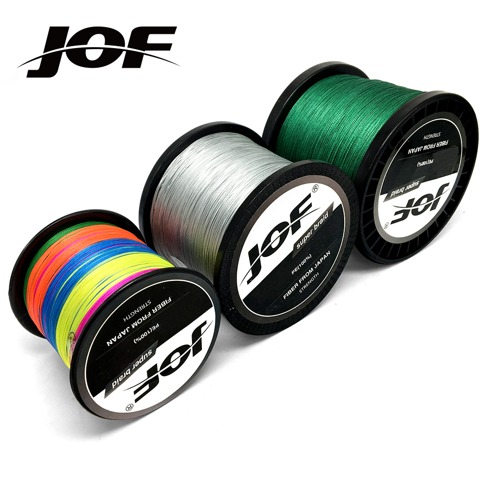 8 Strands 300M 500M 1000M JOF PE 9 Colors Braid Fishing Line Weave Superior Extreme Strong 100% SuperPower цена 2017