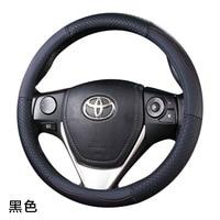 Top Layer Leather Wheel Steering Covers for Toyota 86 Agya Allion Auris Avalon Aygo Vios Vitz Yaris Mark X Hilux Alphard corolla