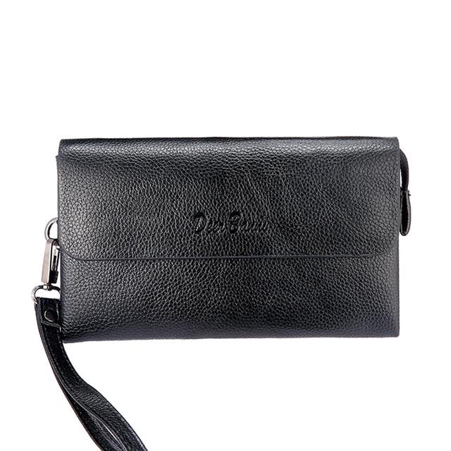 New 2017 Men  Vintage Genuine Leather Wallet  Clutch Purse Men Business Clutch Hand Bag