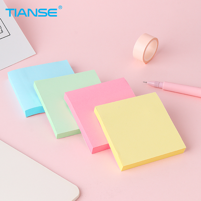 TIANSE Sticky Note Post Memo Pad Self-Adhesive School Supplies Planner Stickers Paper Bookmarks Korean Stationery 3 pcs candy colors sticky notes color smile memo pad post it note paper sticker stationery papelaria material school supplies